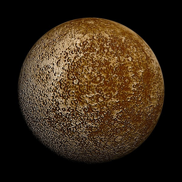 High definition image of Mercury via satellite